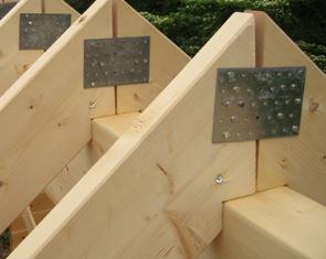 ログハウスの垂木カット
