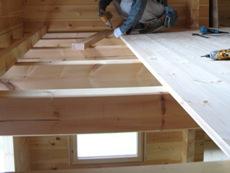 床板の施工