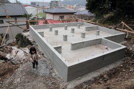 ログハウスの基礎、ほぼ完成
