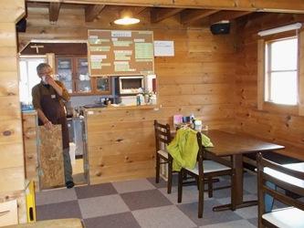 ログハウスの喫茶店