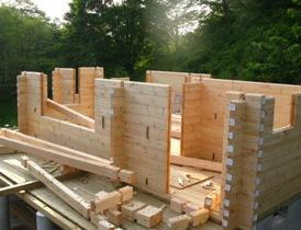 組み木のようなログハウスキット